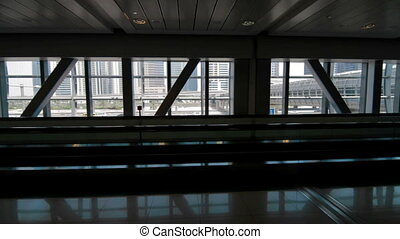 DUBAI View from MTR track in station sabway - DUBAI, UNITED...