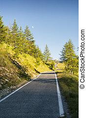 Colle della Lombarda, road in the Alps - Colle della...