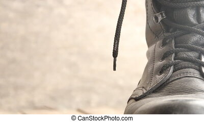 follow inscription and shoe laces - follow text and shoe...