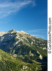 Pyrenees - Izas Valley in Pyrenees, Canfranc Valley, Aragon,...