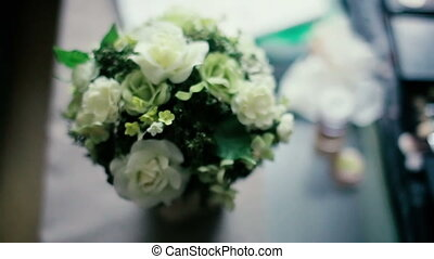 Beautiful White Flowers in Bouquet of Callas lilies -...