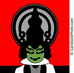 Kerala	 - Illustration of Kath kali actor