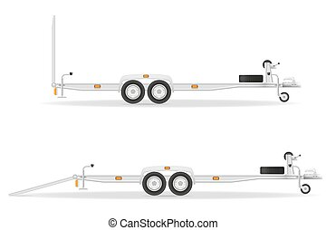 car trailer for transportation vehicles vector illustration