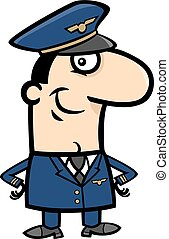 pilot cartoon illustration - Cartoon Illustration of...
