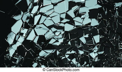 Glass shatter and breaking slowmo - Glass shatter and...