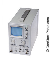 Oscilloscope - object on white - tool measuring instrument...