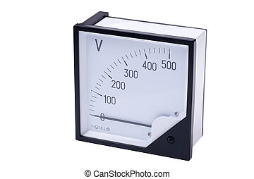 Voltmeter - object on white - tool measuring instrument...