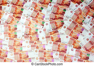 Russian paper money - abstract background image of a Russian...