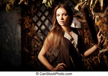 Luxury beauty young woman in a mystical forest - Luxury...