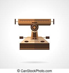 Longboard part flat color vector icon. Suspension - Spare...