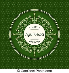 Elegant poster for Ayurveda center.