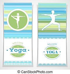 Yoga posters with yogi - Vector yoga illustration Yoga...