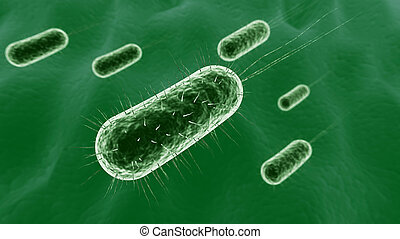 Bacteria - 3D illustration of bacteria background