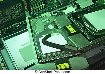 green power HDD Hard disk drive in server memory storage...