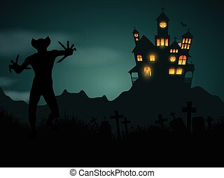 halloween demon background 1609 - Halloween background with...