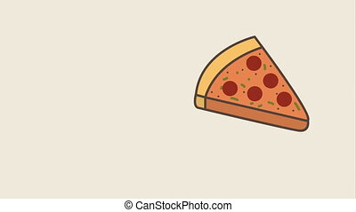 delicious pizza design, Video Animation HD1080