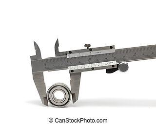Vernier caliper with bearing, isolated on white background