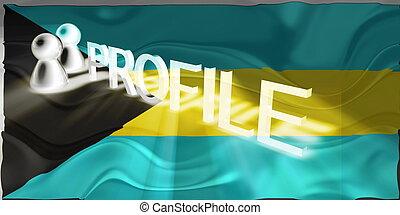 Flag of Bahamas wavy profile