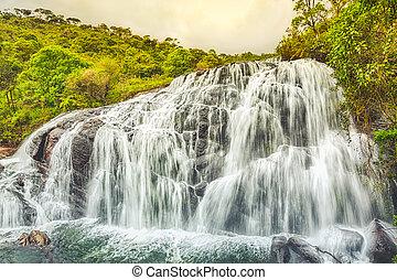 Bakers falls Horton plains national park Sri Lanka