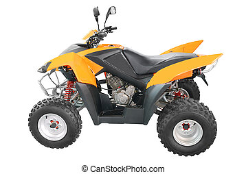 orange atv isolated