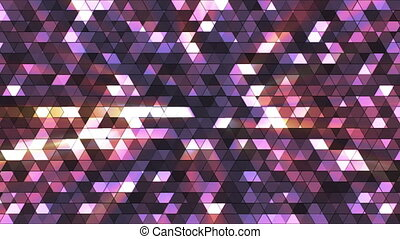 Broadcast Twinkling Squared Hi-Tech Triangles, Multi Color, Abstract, Loop, HD
