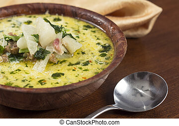 Zuppa Toscana Sausage and Kale Soup - Sausage and kale zuppa...