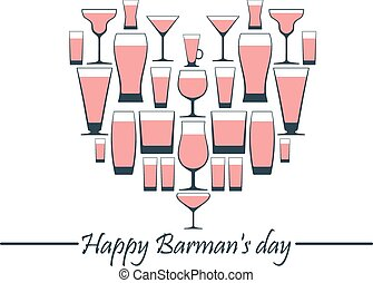 Happy Barman day. - Happy Barman day vector illustration....
