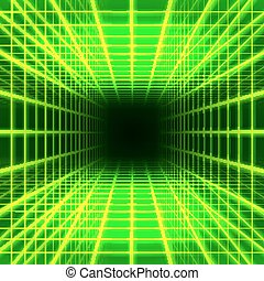 Dimensional grid space - Green dimensional grid space on...
