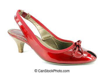 woman high-heel red shoe