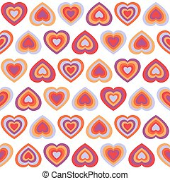 Seamless pattern with hearts - Seamless pattern with big...