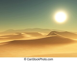 desert background 1405 - Detailed illustration of a desert...