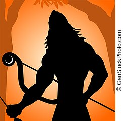 Warrior	 - Illustration of warrior with bow and arrow