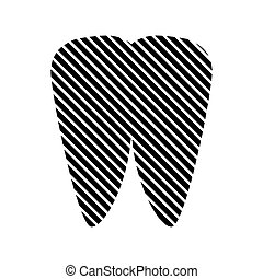 Tooth sign on white. - Tooth sign on white background....