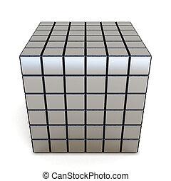 3d conceptual cube on a white background - 3d conceptual...