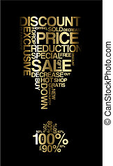 Golden sale discount poster
