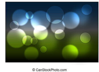 Abstract spring theme - Abstract glowing light on a colorful...