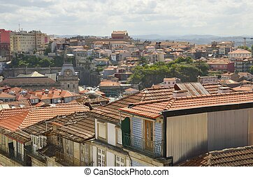 Cityscape from Clerigos Tower - View of the city from...