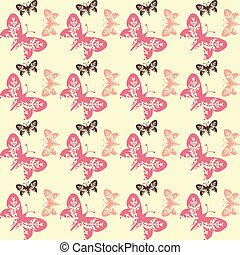 seamless tile butterfly background 0105