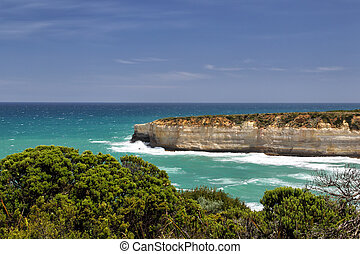Port Campbell National Park - View on the rocky coast from...