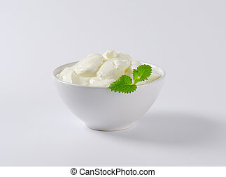Thick Greek yogurt - Bowl of thick Greek yogurt