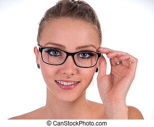 Glasses - pretty woman wearing glasses