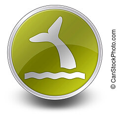 Icon, Button, Pictogram Whale - Icon, Button, Pictogram with...
