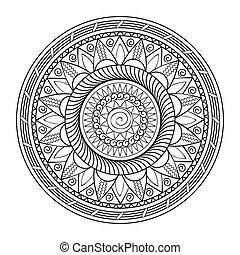 mandala - Hand drawn decorated mandala. Zentangle style....