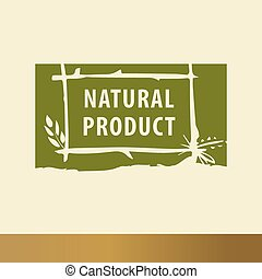 Natural product sketch logo The growth of plants, seedlings...