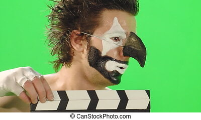 clown with clapboard 3