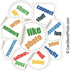 vector Social Media Word and Icon Cloud