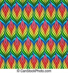 Seamless pattern with abstract leaves Vector, EPS 10 -...