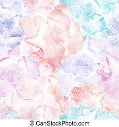 Roses Seamless Pattern, vector, colorful, vintage. EPS10.