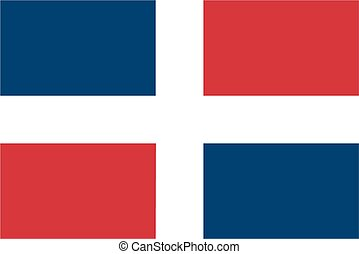 Dominican Republic flag - Simplified flag of the Dominican...