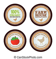 Organic product - Set of labels with organic products Vector...